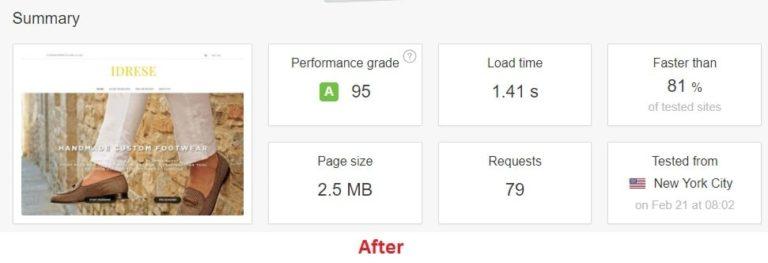 pindgom after optimization results